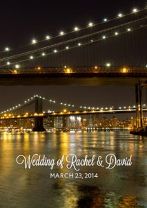 NYC Wedding Bencher new york city